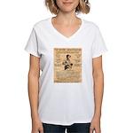 General George Patton Women's V-Neck T-Shirt