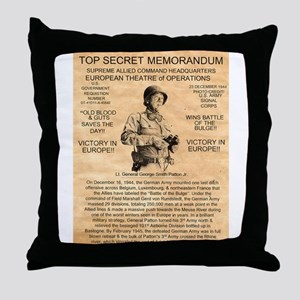 General George Patton Throw Pillow
