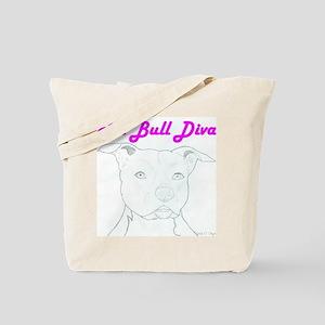Pit Bull Diva  Tote Bag