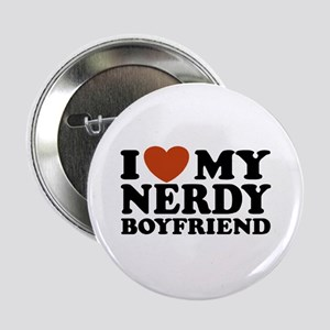 "I Love My Nerdy Boyfriend 2.25"" Button"