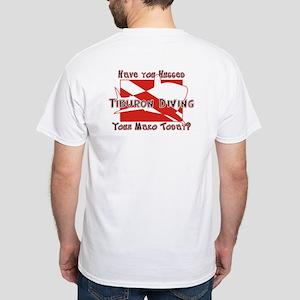 Tiburon Diving - Mako Shark - Maui - White T-Shirt