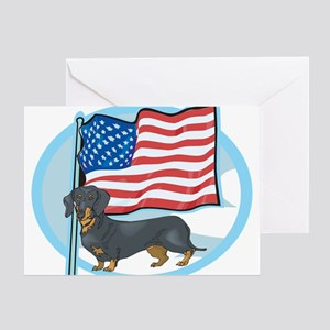 Patriotic Dachshund Greeting Card