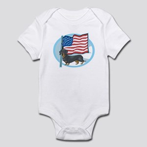 Patriotic Dachshund Infant Bodysuit