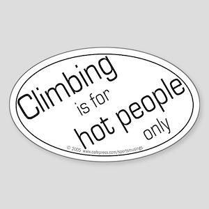 Hot Climbers Oval Sticker
