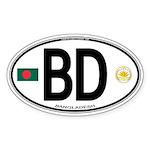 Bangladesh Euro Oval Oval Sticker (10 pk)