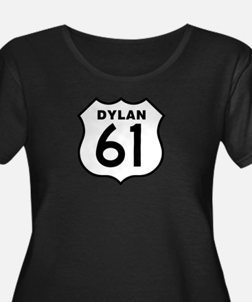 Women's Dylan 61 Plus Size Scoop Neck Dark T-Shirt