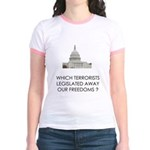 Which Terrorists? Jr. Ringer T-Shirt