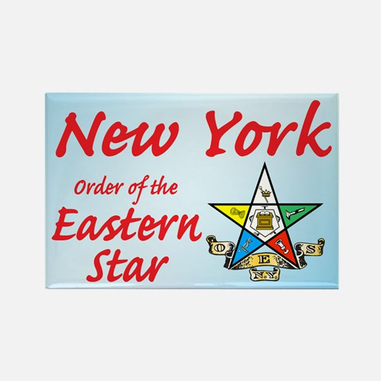 New York Eastern Star Rectangle Magnet