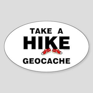 Geocache Hike Oval Sticker