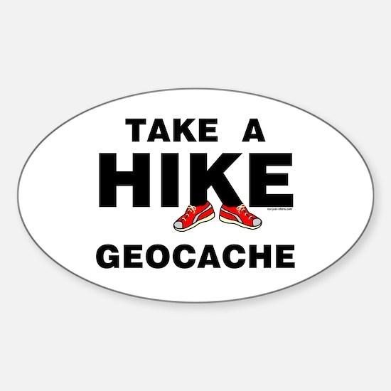 Geocache Hike Oval Decal