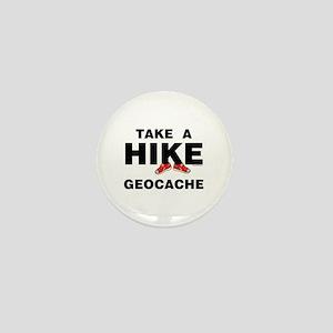 Geocache Hike Mini Button