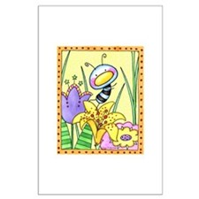 Bug In Flower Garden Large Poster