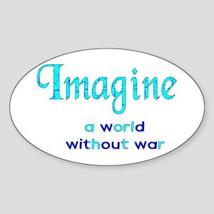 Imagine Peace Sticker (Oval)