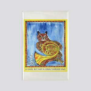 Not a Great Horned Owl Rectangle Magnet