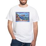 Playful Otters White T-Shirt