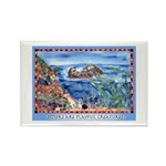 Playful Otters Rectangle Magnet (10 pack)