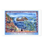 Playful Otters Postcards (Package of 8)