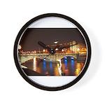 Nighttime on Bridge. Wall Clock