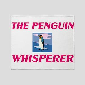The Penguin Whisperer Throw Blanket
