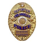 Los Angeles Reporter Oval Ornament