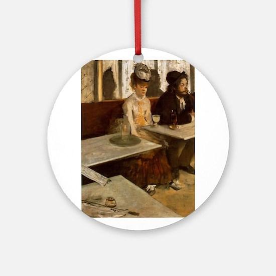 Edgar Degas -L'Absinthe Ornament (Round)