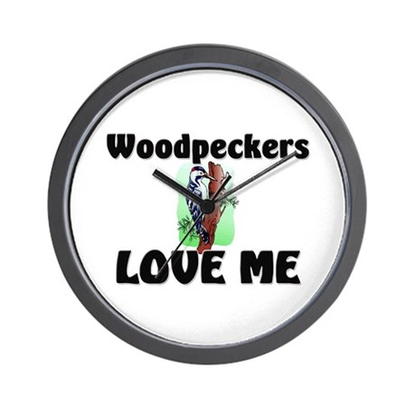 Woodpeckers Loves Me Wall Clock