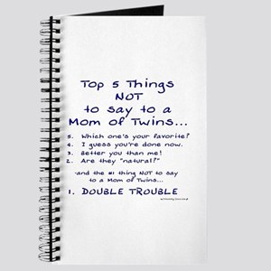 Twin Mom - Top 5 Things Not To Say Journal