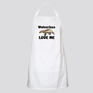 Wolverines Loves Me BBQ Apron