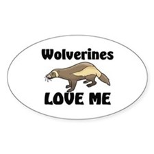 Wolverines Loves Me Oval Sticker