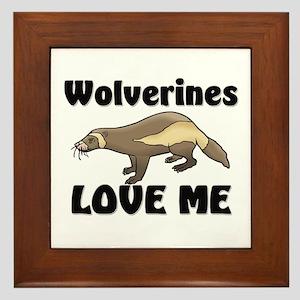 Wolverines Loves Me Framed Tile