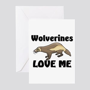Wolverines Loves Me Greeting Cards (Pk of 10)