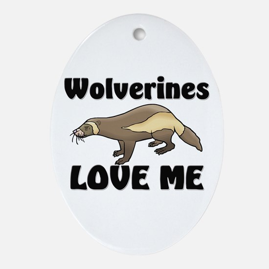 Wolverines Loves Me Oval Ornament