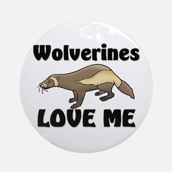 Wolverines Loves Me Ornament (Round)