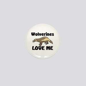 Wolverines Loves Me Mini Button
