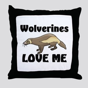 Wolverines Loves Me Throw Pillow