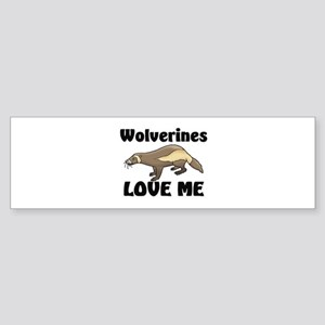 Wolverines Loves Me Bumper Sticker