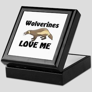 Wolverines Loves Me Keepsake Box