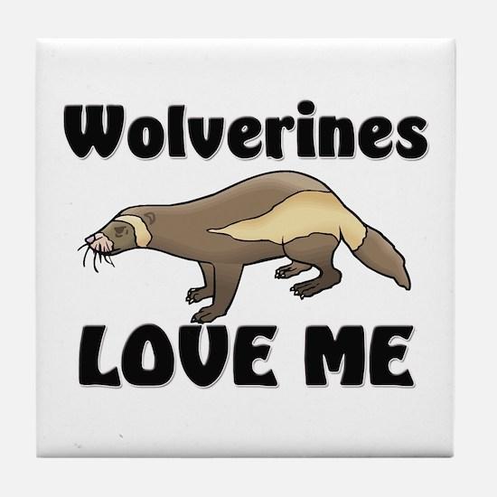 Wolverines Loves Me Tile Coaster