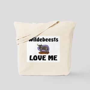 Wildebeests Loves Me Tote Bag