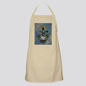Awesome skull with crow in blue colors Light Apron
