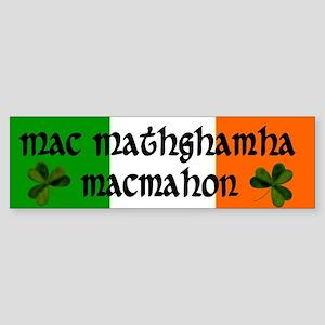 MacMahon in Irish & English Bumper Sticker