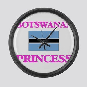 Botswanan Princess Large Wall Clock