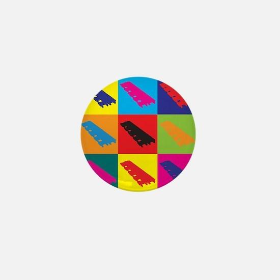 Xylophone Pop Art Mini Button
