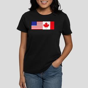 AmeriCanadian Women's Dark T-Shirt
