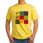 Woodworking Pop Art Yellow T-Shirt