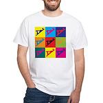 Woodworking Pop Art White T-Shirt