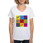 Woodworking Pop Art Women's V-Neck T-Shirt
