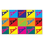 Woodworking Pop Art Rectangle Sticker 50 pk)