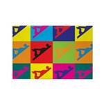 Woodworking Pop Art Rectangle Magnet (10 pack)