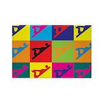 Woodworking Pop Art Rectangle Magnet (100 pack)